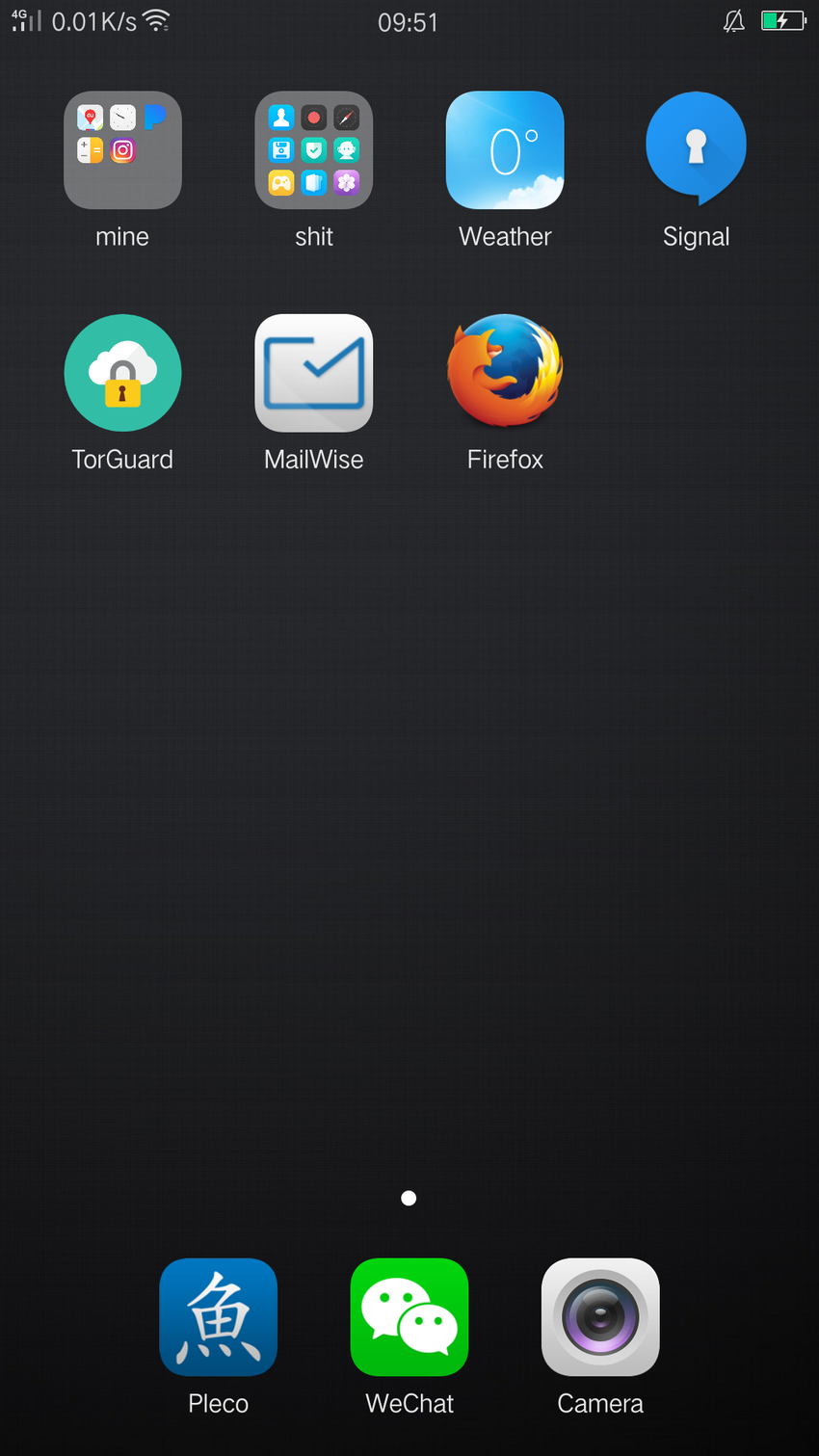 I can't hide apps, but I can put them in a folder, at least.