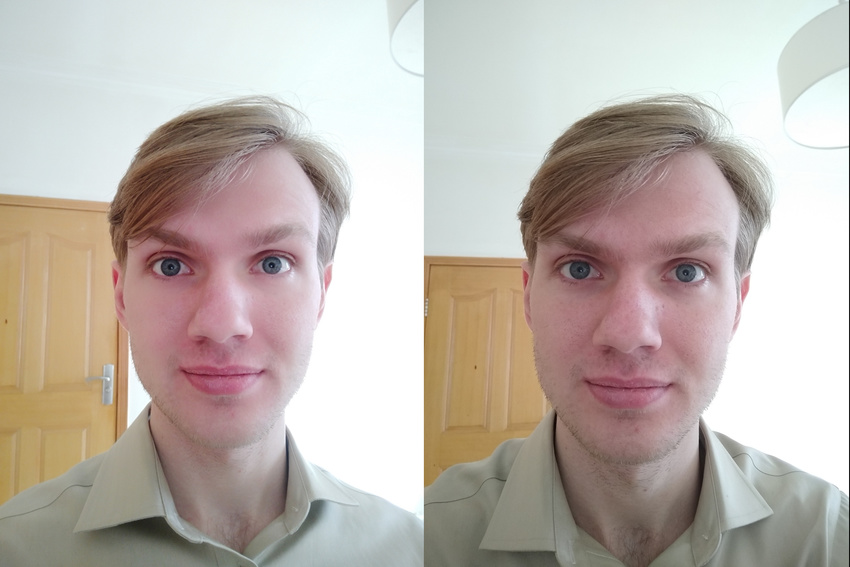 A comparison of doctored and undoctored Chinese cameraphone selfies